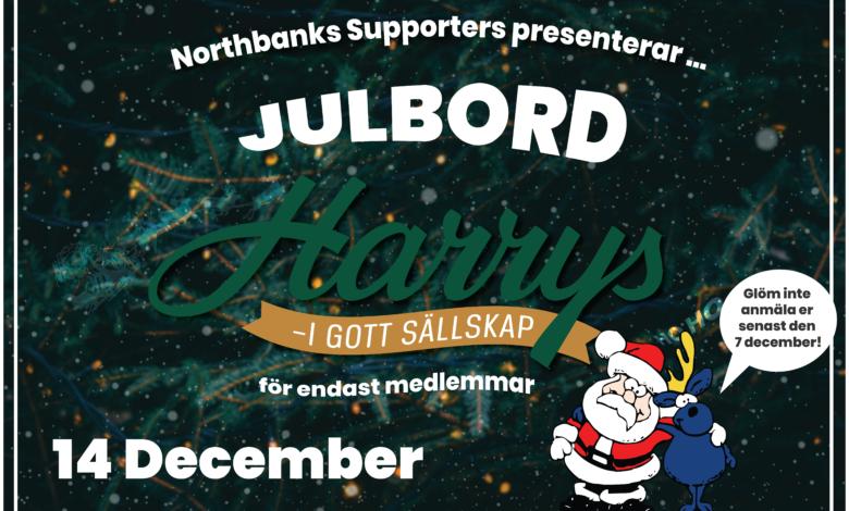 Photo of Julbord för medlemmar 14/12