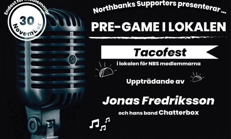 Photo of Livemusik & Tacofest i lokalen 30/11